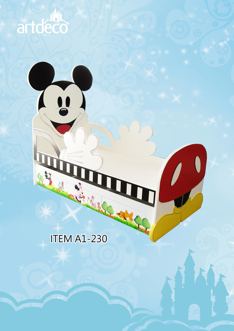 Mickey Mouse Single Bed for Children